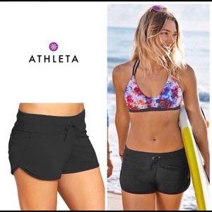 Athleta Kata Black Swim Shorts